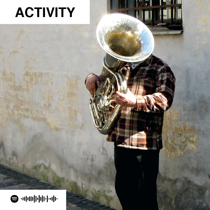scan the spotify code of the ACTIVITY jam card