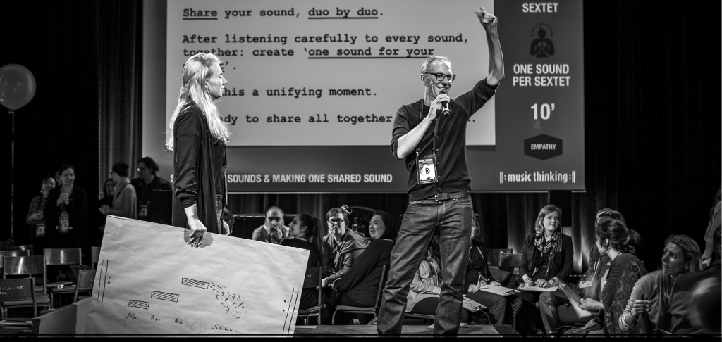 Photo: Taken during Design Thinking Conference by Arne van Oosterom. Contact music thinking for workshop, speaking assignments and more