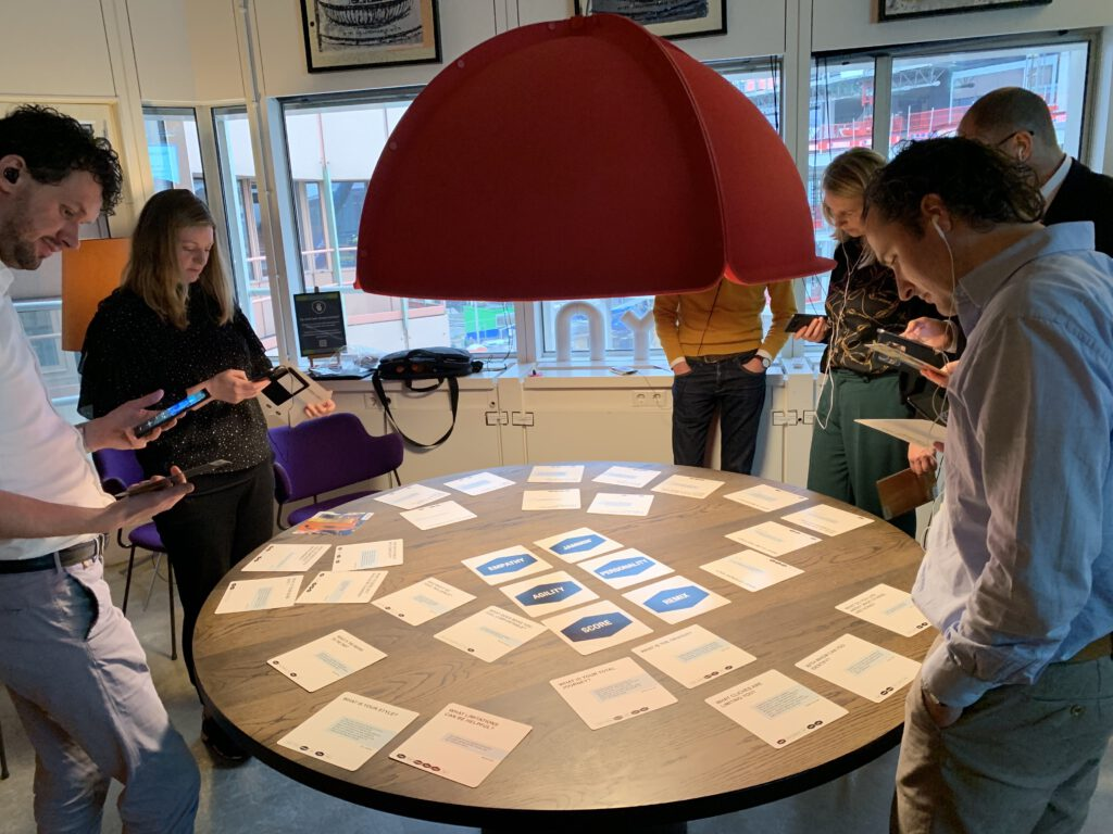 Serendipity Lab with the jam cards for collaborative transformation
